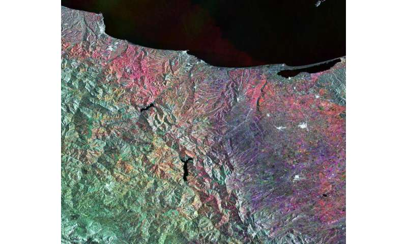Image: Central/southern Italy from Sentinel-1A
