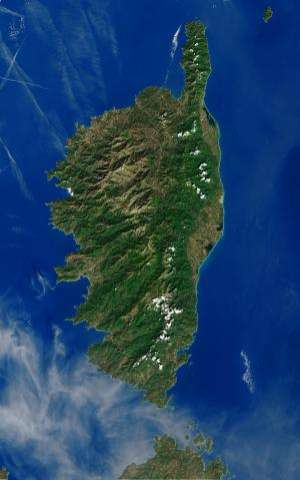 Image: Corsican waters from space