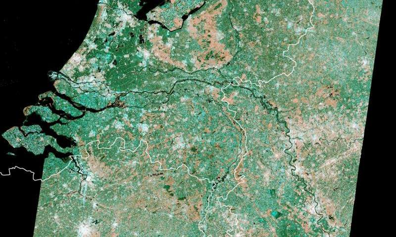 Image: Dutch mosaic from Copernicus Sentinel data