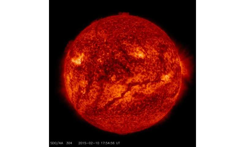 Image: Giant filament seen on the sun