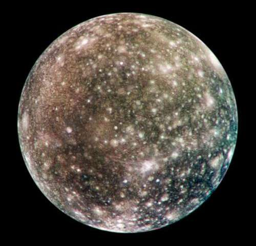 Image: Jupiter's cratered moon, Callisto