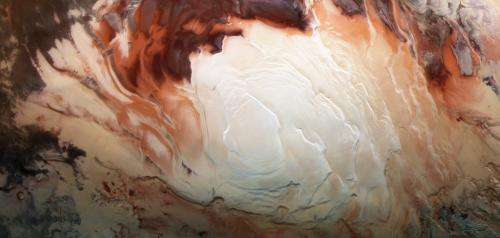 Image: The icy cap at Mars' south pole