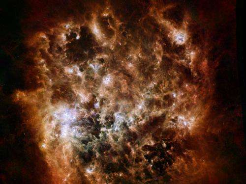 Image: The tumultuous heart of the Large Magellanic Cloud