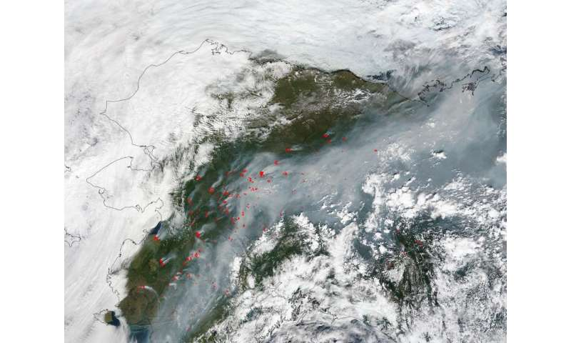 Image: Unusually large number of fires across Alaska