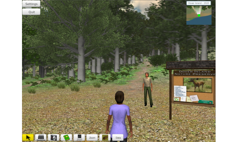 Increasing ecological understanding with virtual worlds and augmented reality