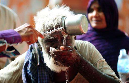 India declares a heatwave when the maximum temperature hits 45 degrees Celsius, or five degrees higher than the average for the