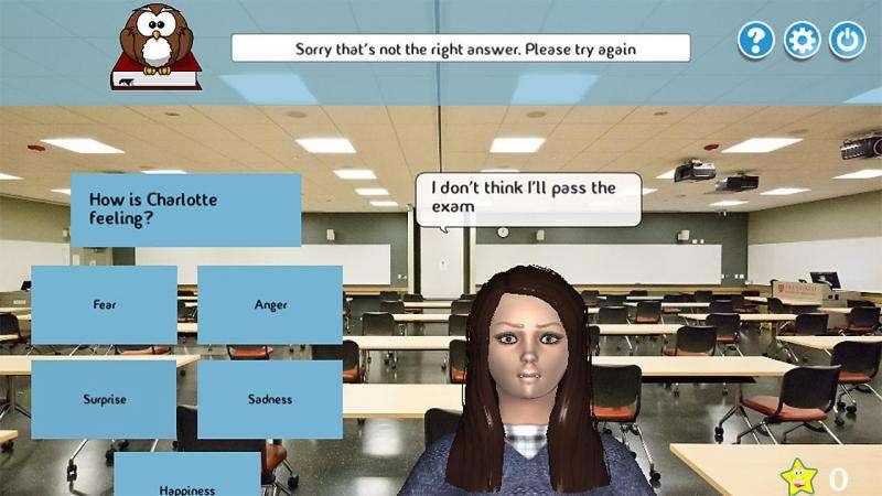 Interactive game assesses children's emotional development