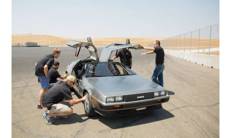 Introducing MARTY, a self-driving, electric, drifting DeLorean