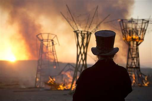 Israeli Burning Man festival torches ancient remains
