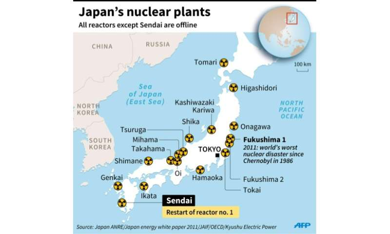 Japan Ends Nuclear Shutdown Four Years After Fukushima - Japan map offline