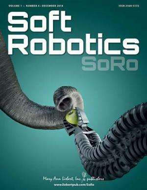 Jumping, roly-poly, untethered robot described in soft robotics journal