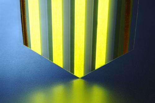 Large-surface light-emitting plastic film