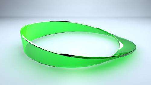 Light in the Moebius strip