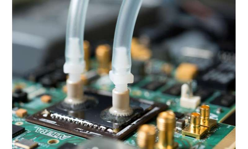 Liquid cooling moves onto the chip for denser electronics