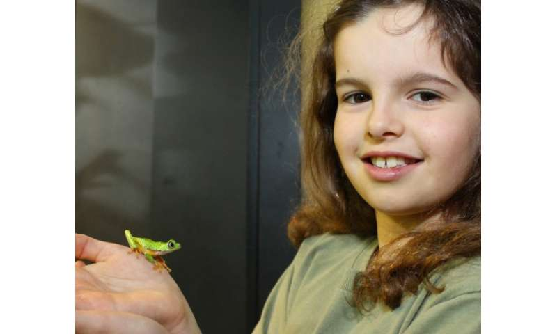Lucy, 9, is face of global fight to save frog from extinction