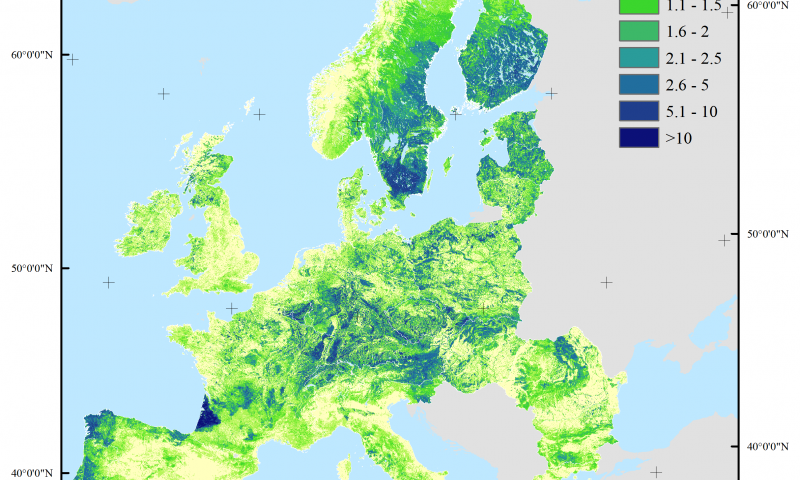 2015 Map Of Europe.Mapping Wood Production In European Forests