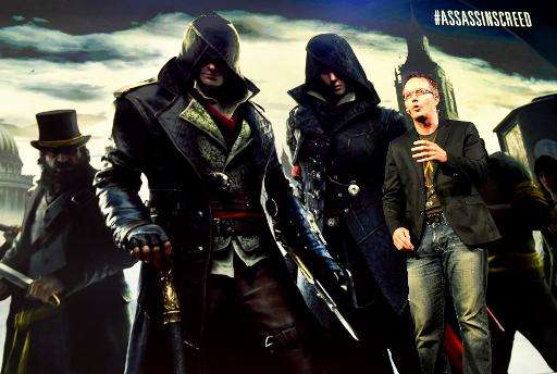 """Marc-Alexis Cote, a creative director for Ubisoft Quebec, announces the video game """"Assassin's Creed Syndicate"""" before"""