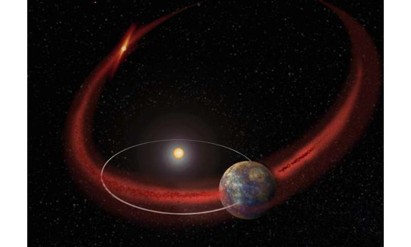 Mercury gets a meteoroid shower from comet encke