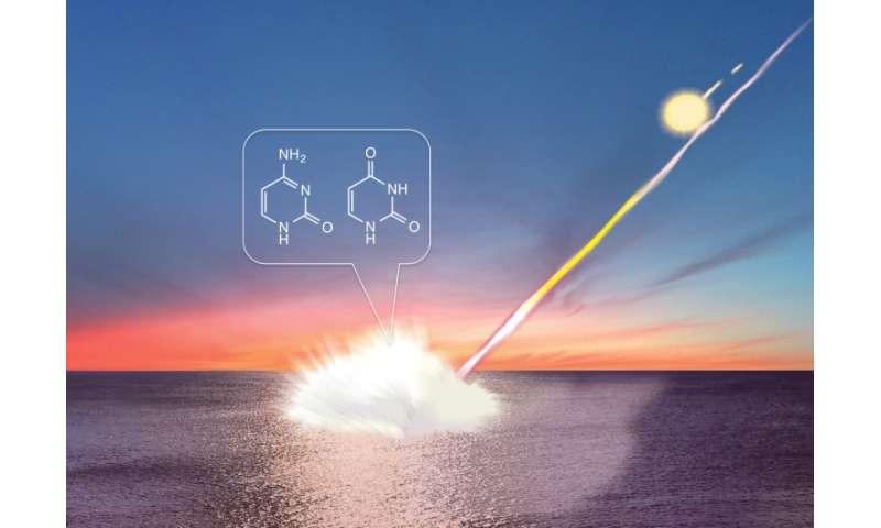 Meteorite impacts can create DNA building blocks