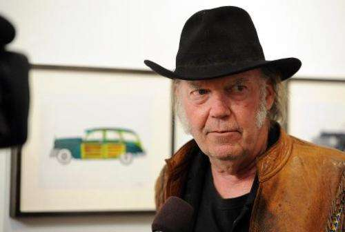 "Musician Neil Young attends his opening night reception for ""Special Deluxe"" Art Exhibition at Robert Berman Gallery o"