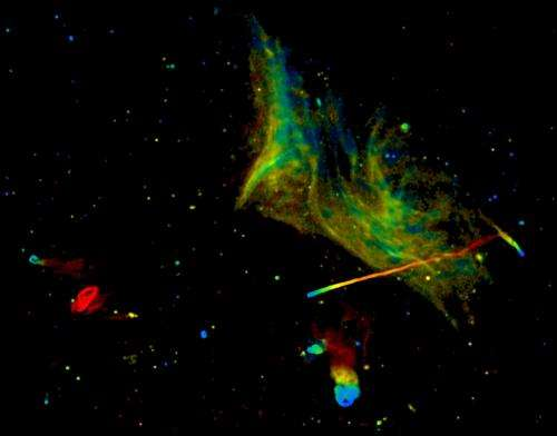 Mysterious phenomena in a gigantic galaxy-cluster collision
