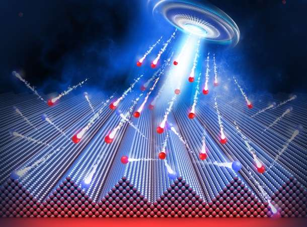 Nano-dunes with the ion beam