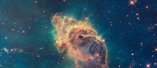 NASA Hubble Space Telescope handout image shows the vast Carina Nebula, an interstellar cloud of dust, hydrogen gas, helium gas