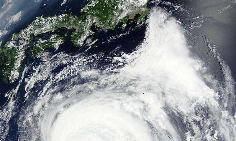 NASA sees a ragged eye in Typhoon Nangka