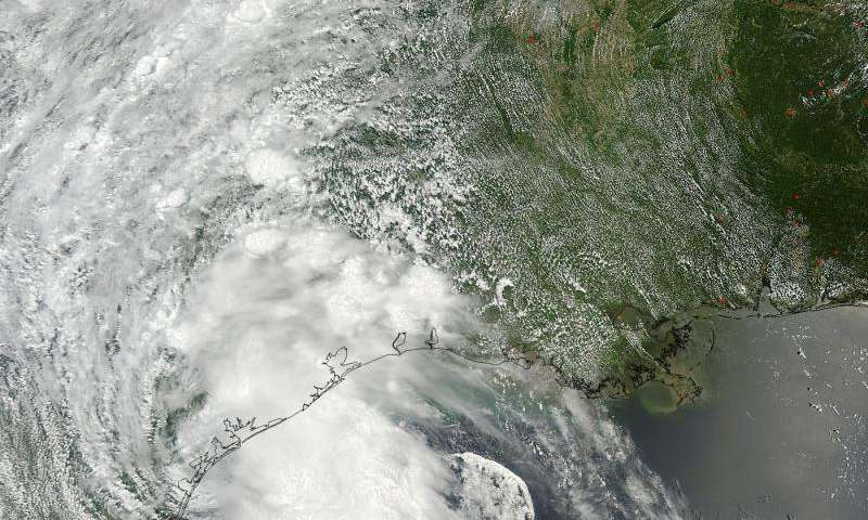 NASA sees Bill make Texas landfall, weaken to a depression