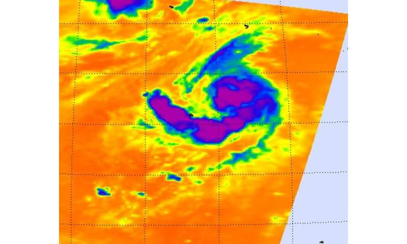 NASA sees comma shaped Tropical Storm Kilo