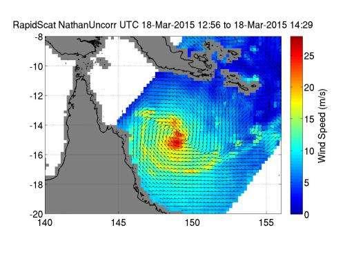 NASA sees Cyclone Nathan target landfall in Queensland's Cape York Peninsula