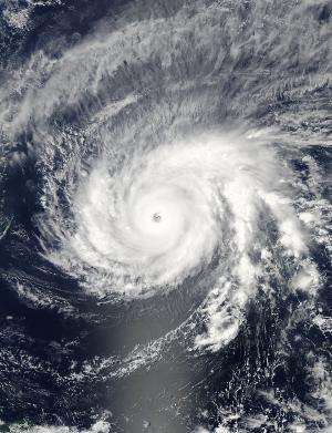 NASA sees Maysak become a super typhoon
