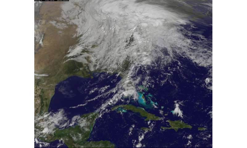 NASA sees post-Patricia moisture, winds stalking the Mid-Atlantic