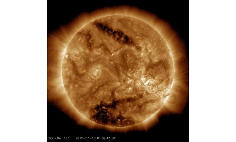 NASA's SDO sees two coronal holes