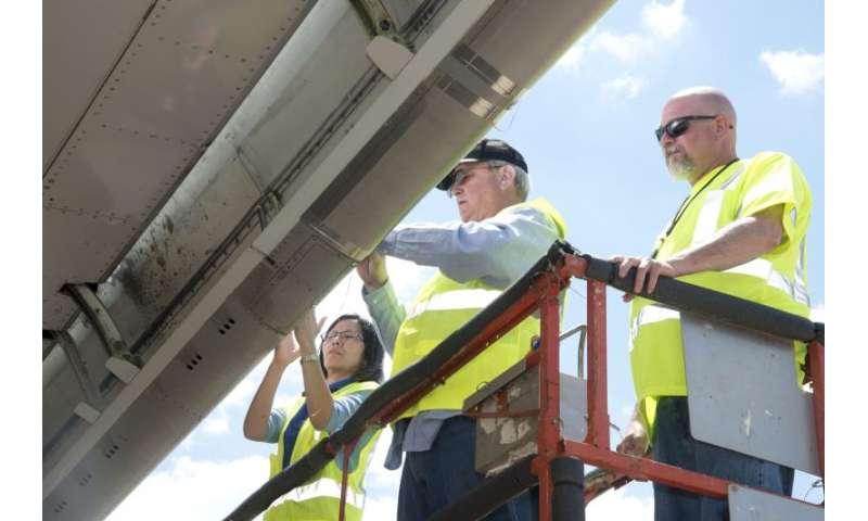 NASA tests aircraft wing coatings that slough bug guts