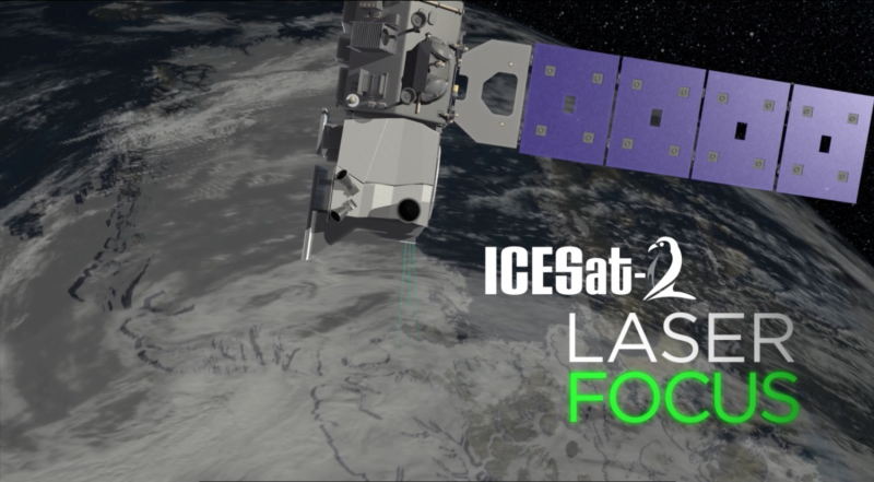 NASA tests ICESat-2's laser aim