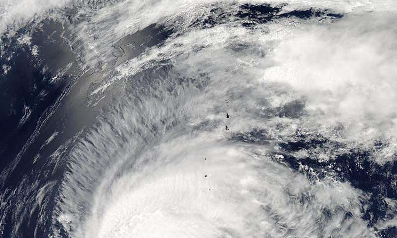 NASA tracks Typhoon Dolphin on approach to Iwo To