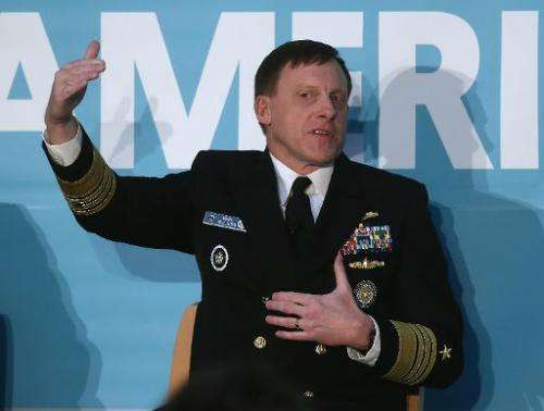 National Security Agency Director Adm. Mike Rogers speaks about cyber security at The New America Fondations cyber security conf
