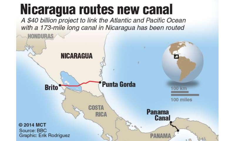 Nicaragua routes new canal