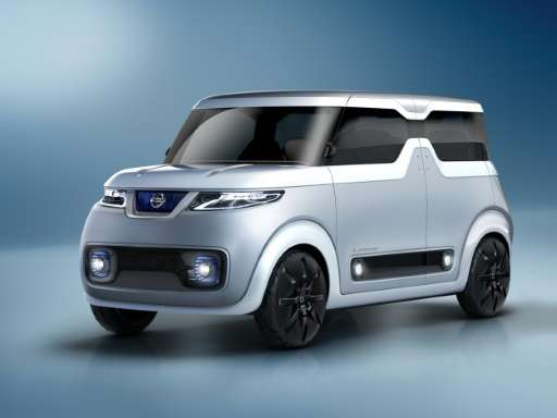 Nissan's concept vehicle 'TEATRO for DAYZ', pictured in Tokyo