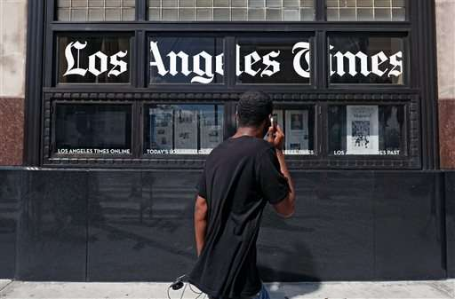 Owner of LA Times, Chicago Tribune expects to cut jobs 7 pct
