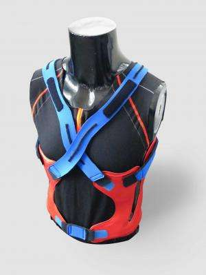 Power vest supports the back without restricting freedom of movement