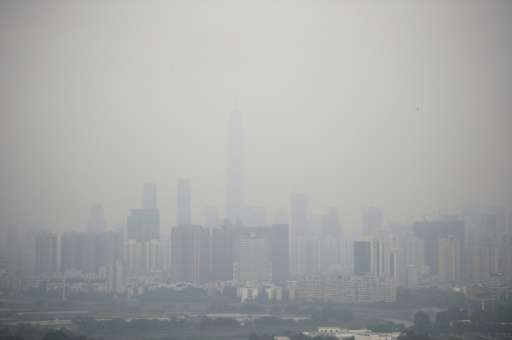 China air pollution levels fall: Greenpeace