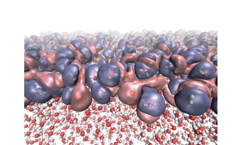 Quantum model reveals surface structure of water