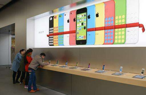 """""""Apple soared 40 percent annually... Apple's new iPhone 6 portfolio is flying off the shelves in China and the United State"""