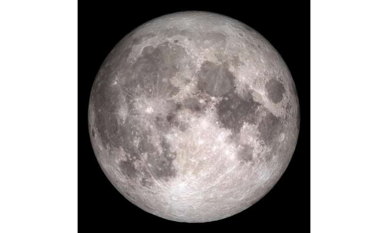 Rare full moon on Christmas Day
