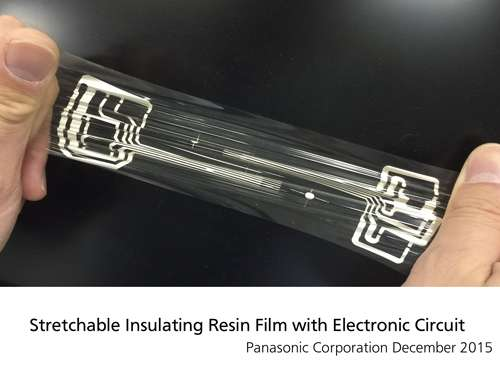 Resin film for stretchable electronics