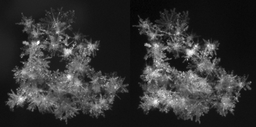 Road safety through snowflake imaging