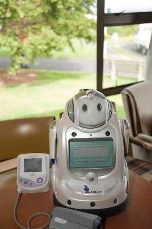 Robots help with rural elderly healthcare