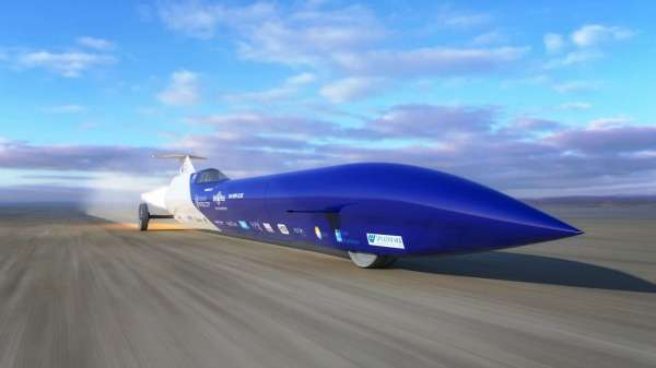 Rocket Powered Car Steers Towards World Speed Record